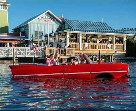 Amphicars Disney Springs