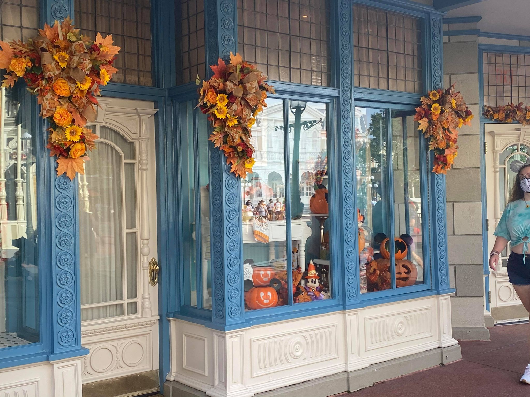 Fall decorations Magic Kingdom
