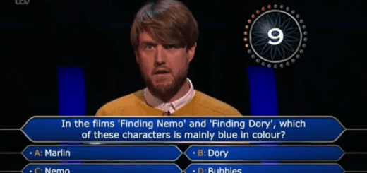 Who Wants To Be A Millionaire Dory Question