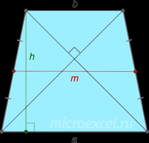 Diagonala și înălțimea unui trapez inaccesibil