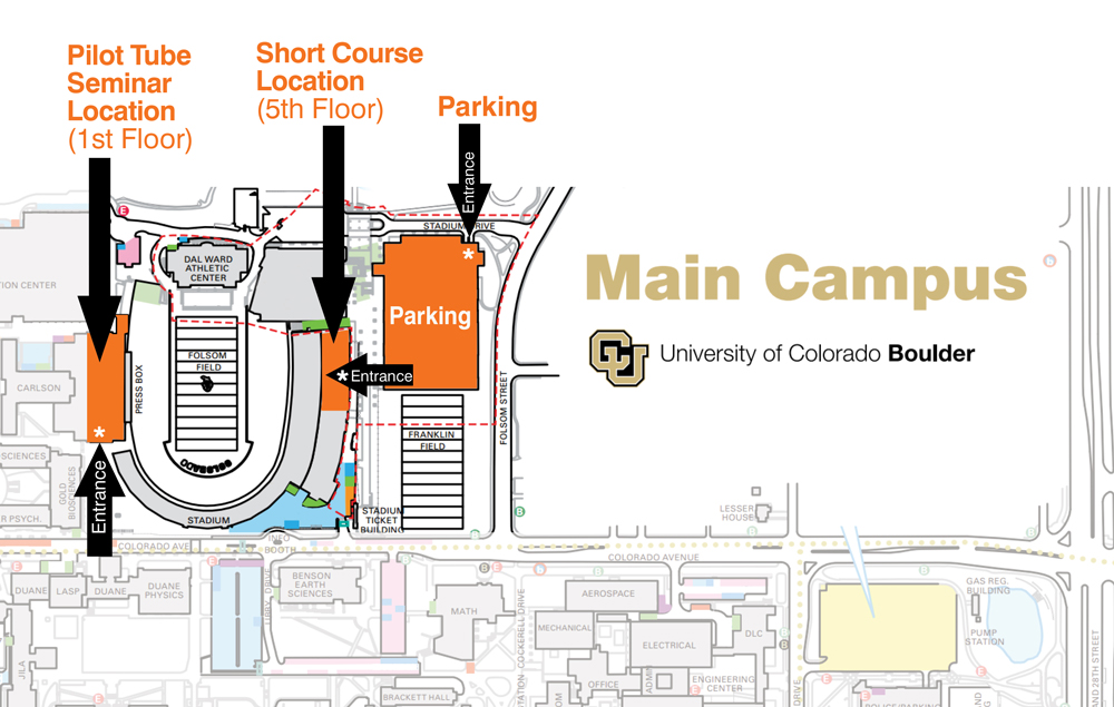 University Boulder Parking Map Colorado