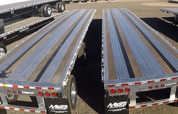 Winch Tracks Flatbed Trailers