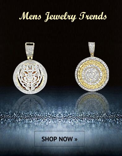 White Gold Wedding Sets Diamond Cross Charm His And