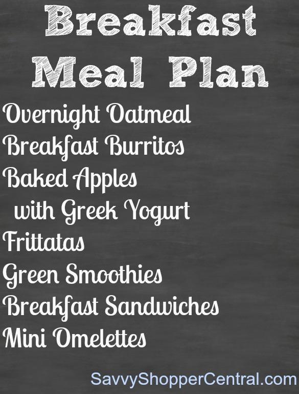 Breakfast Meal Planning