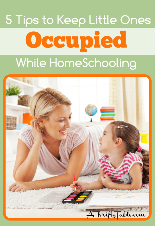 Tips for keeping younger children occupied while homeschooling older children
