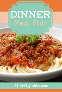 Meal Plan Monday