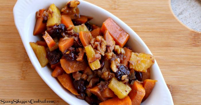 Bacon Sweet Potato Casserole with Pineapple