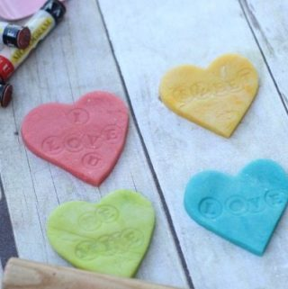Conversation Heart Playdough