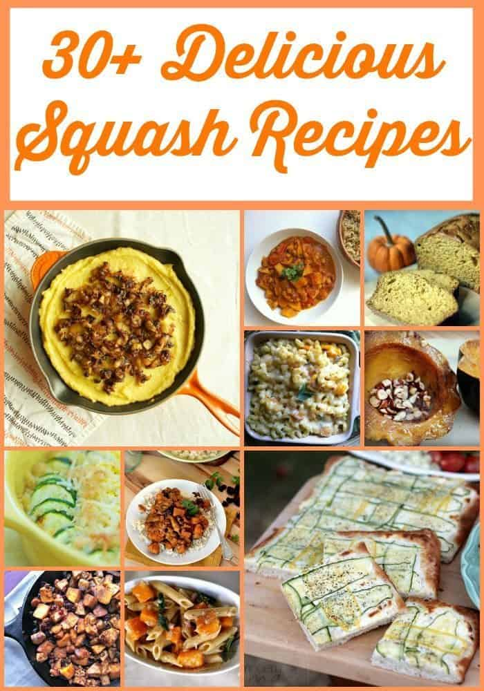Over 30 Delicious Squash Recipes ~ Delicious desserts, easy breakfast ideas, baked goods, and so much more!