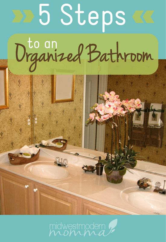 Use these 5 tips for organizing your bathroom & keeping it that way!