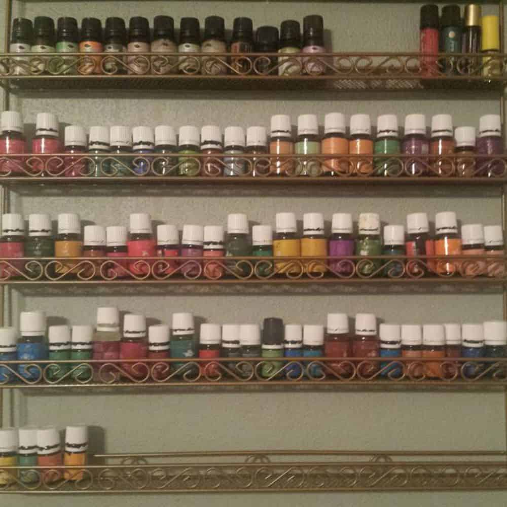 My essential oil collection organized