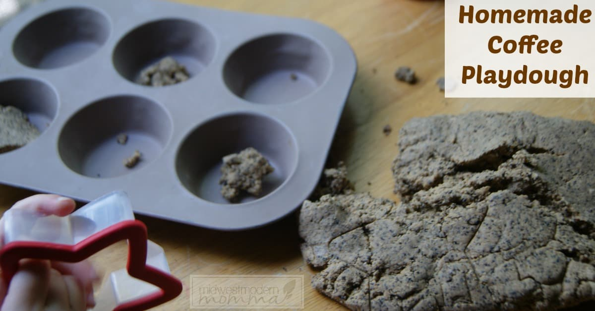 Homemade Playdough Recipe: Make our Coffee Scented Homemade Playdough Recipe as a great sensory experience for both you and your kids!