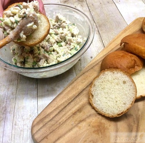 Easy Chicken Salad with Lemon and Poppyseed is a delicious option for lunch! Check out our kid-approved lunch idea that is easy and healthy!