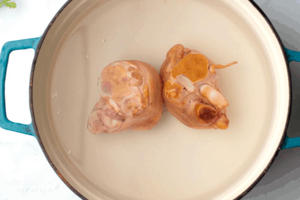 Ham hocks in a dutch oven