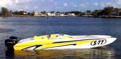 Enjoy the Thrill of a 32 Foot Skater Cat Race Boat