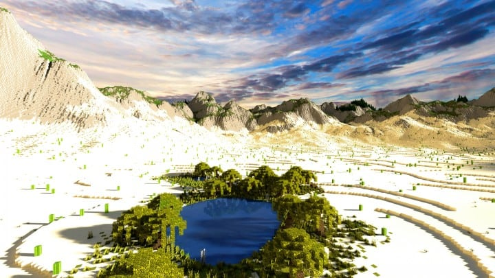 Realistic Desert And Mountain Terrain Minecraft Building Inc