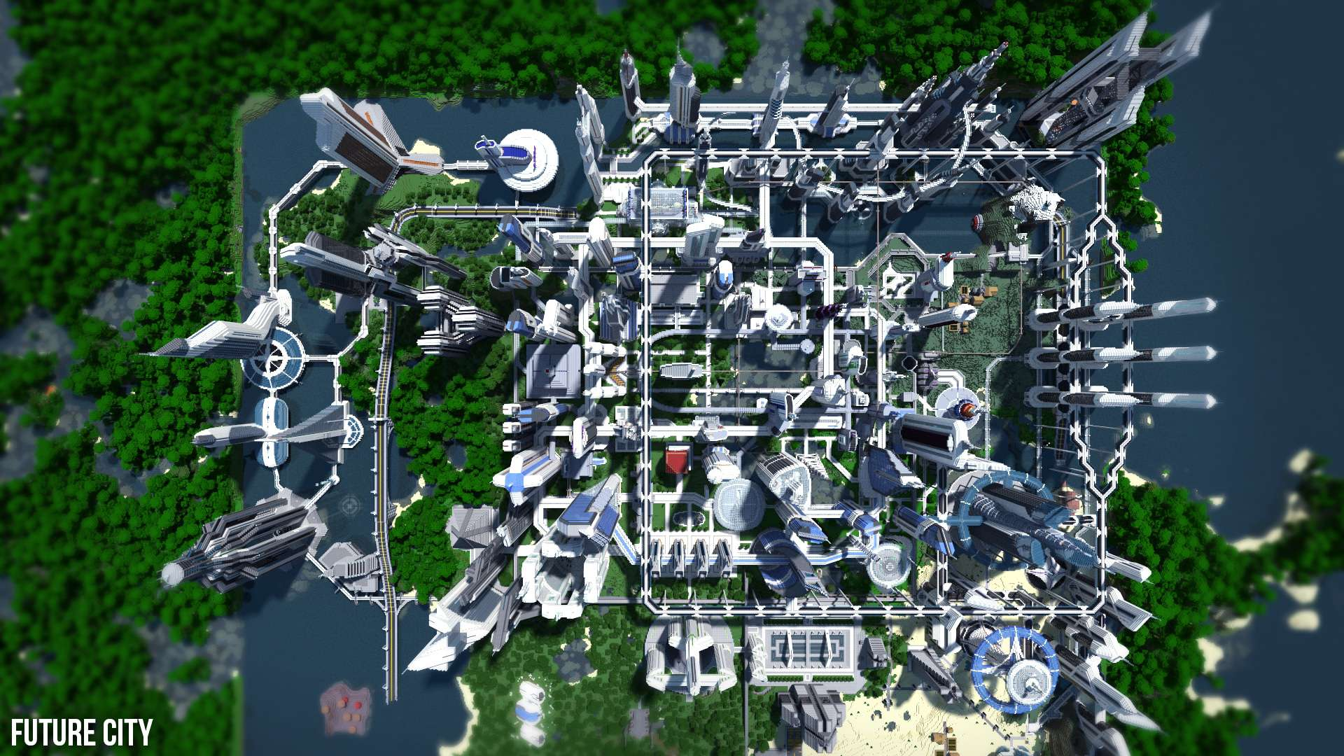 Future City 3 4 Minecraft Building Inc