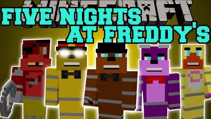 Freddys Minecraft Skins 2 Freddy Nights Five Nights Five