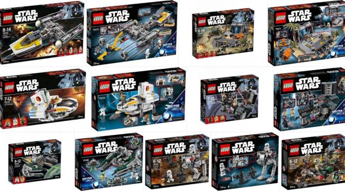 Lego 2017 Star Wars Set Boxes Front and Some backs   Minifigure     Lego 2017 Star Wars Set Boxes Front and Some backs   Minifigure Price Guide
