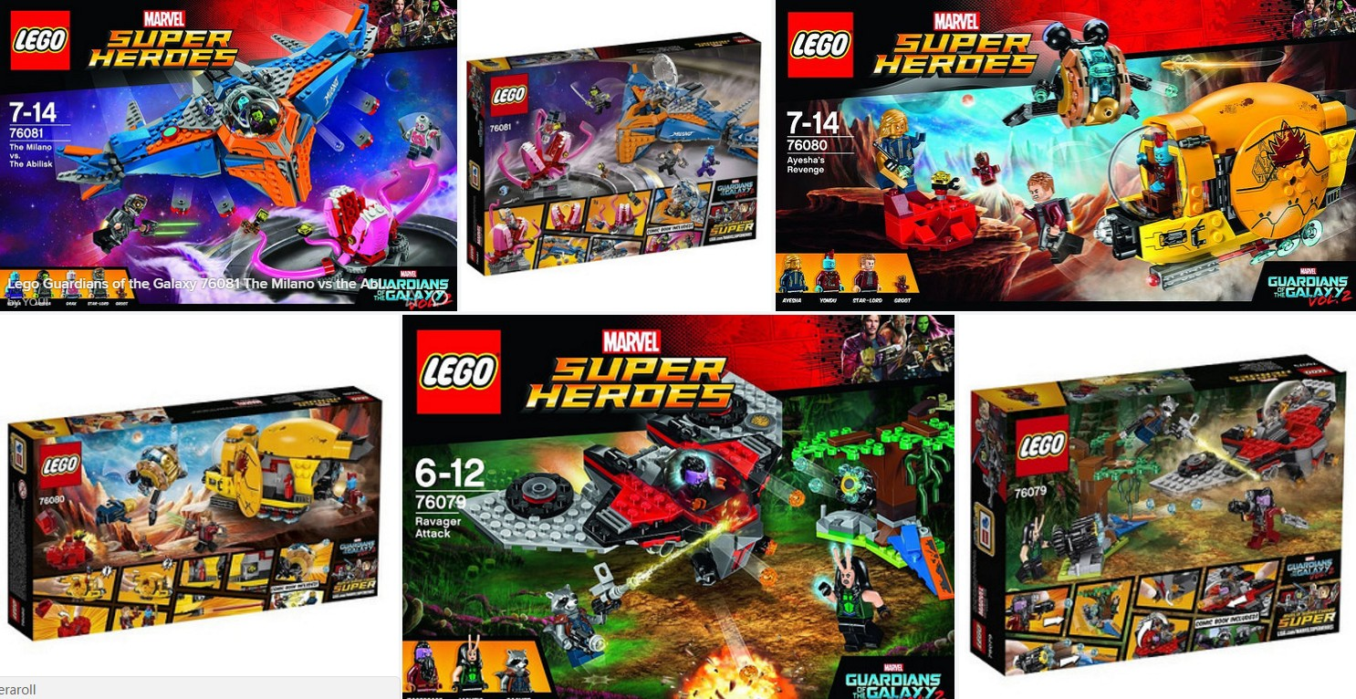 Lego 2017 Guardians of the Galaxy II     Box Backs Now as well     These just showed up on Amazon de and the look pretty good  Let me know  what you think  We have seen a few preliminary images  but these official  ones of