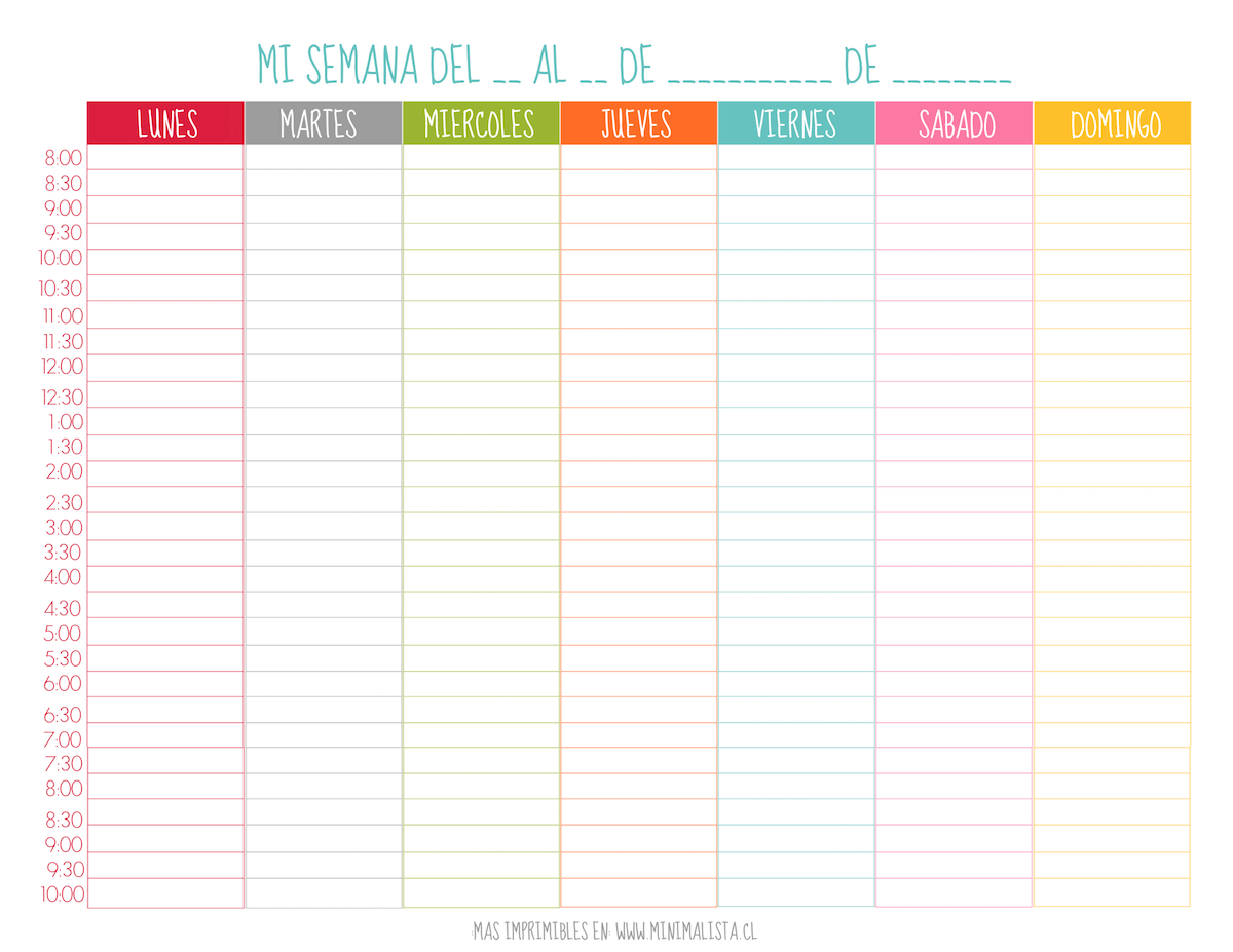 Pinterest Weekly Planner Printable