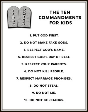 10 commandments of god # 18