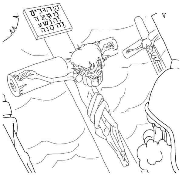 jesus on the cross coloring page # 21