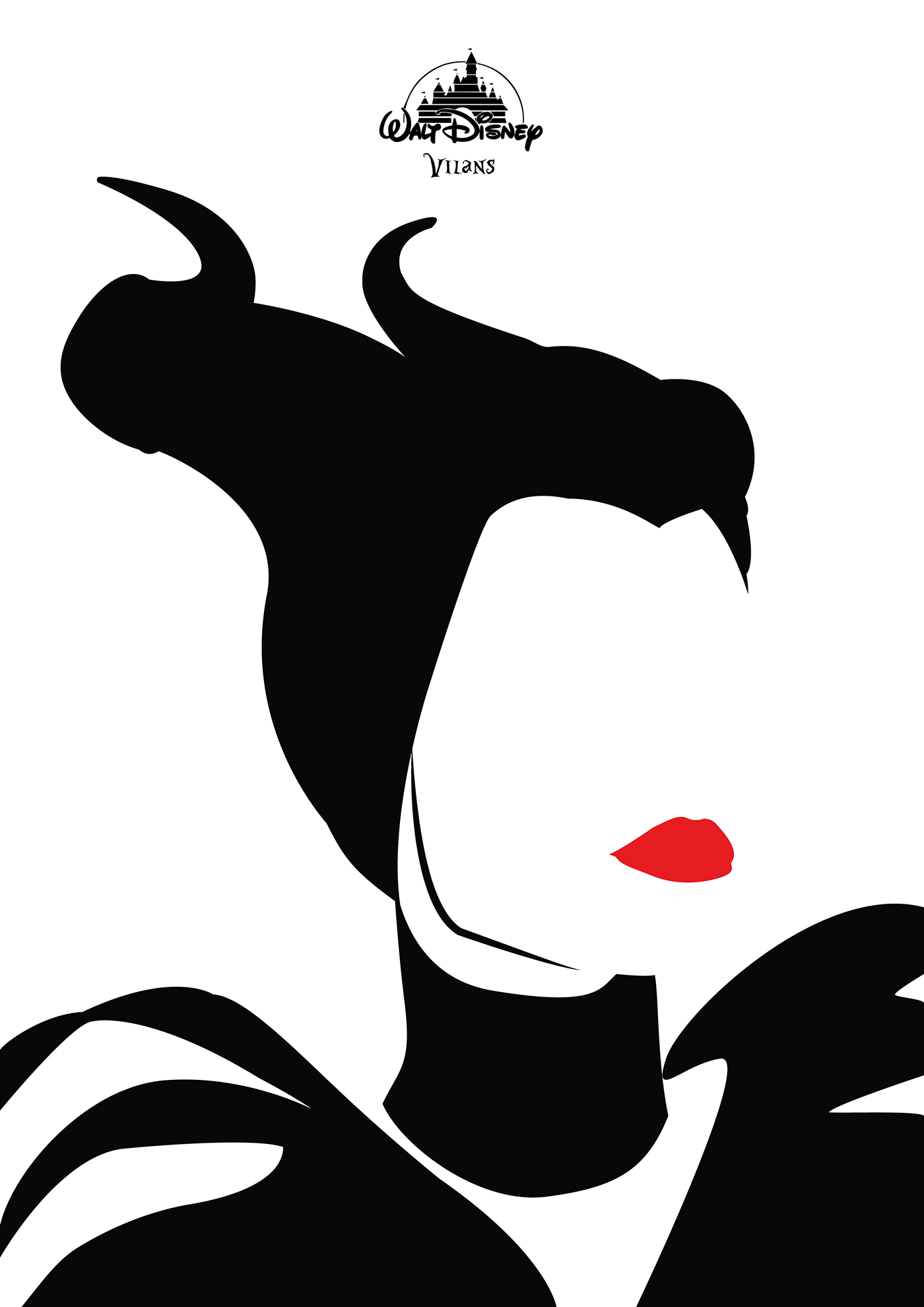 Transparent Silhouette Disney Villans