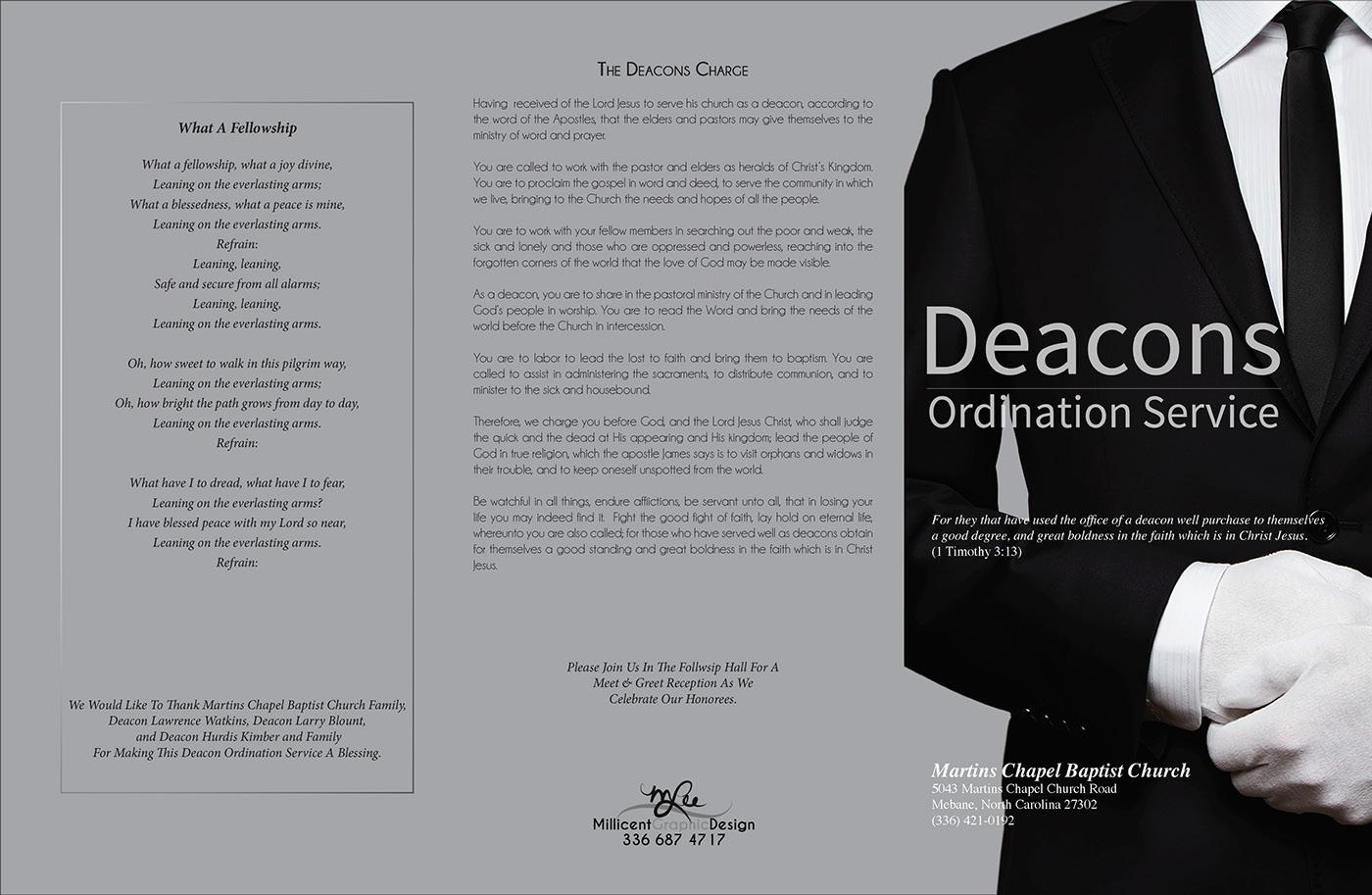 Deacon Ordination Service Flyer