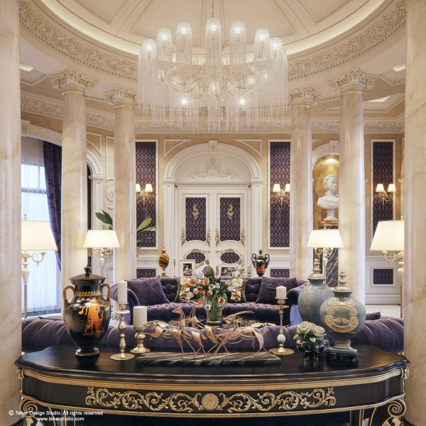 Luxury Mansion Interior   Qatar   on Behance Taher Design Studio  All Rights Reserved