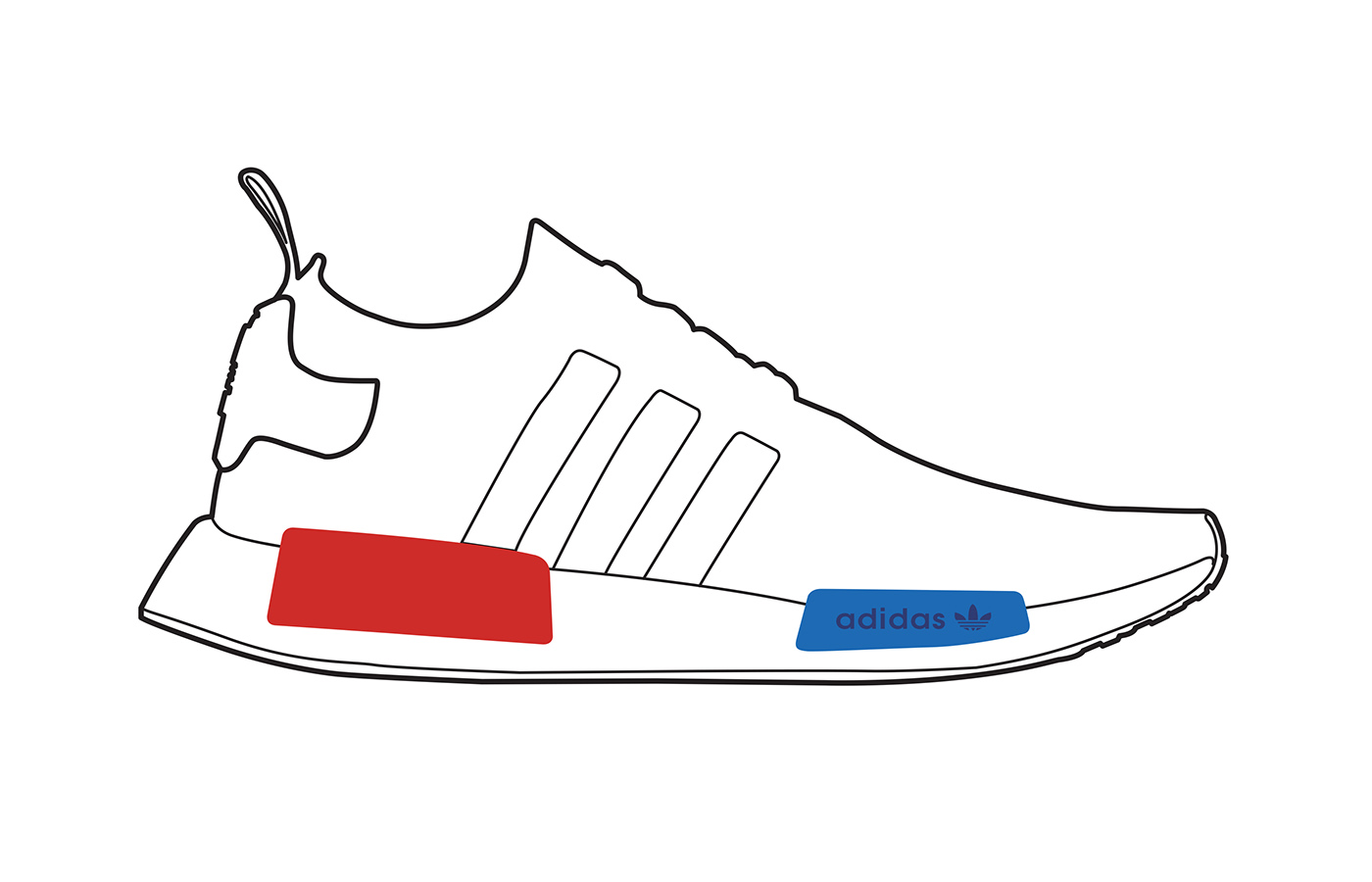 Adidas Nmd Line Drawing