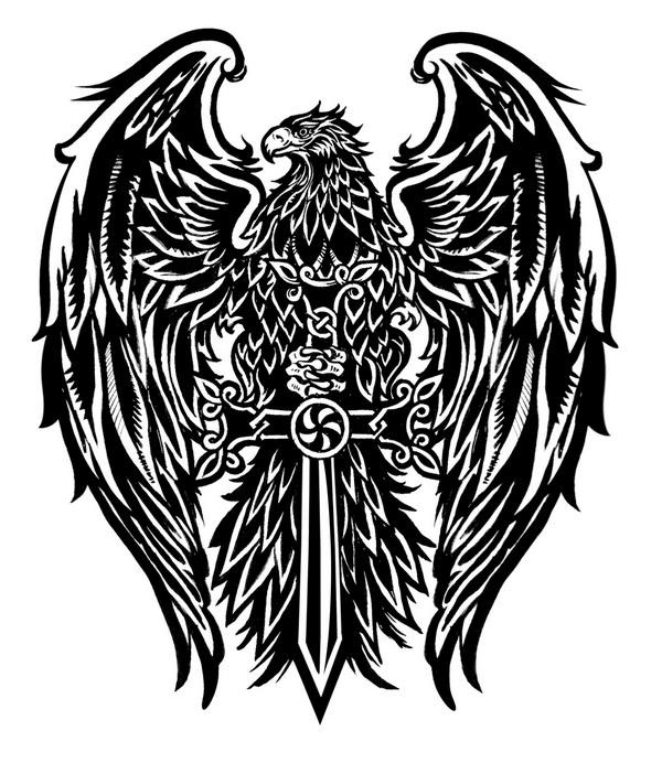 Two Headed Eagle Chest Tattoo