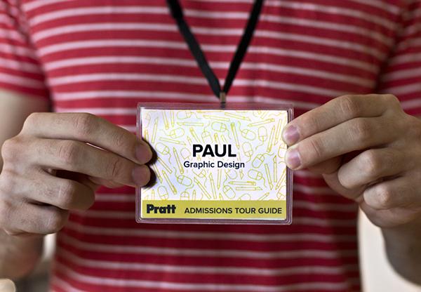 Pratt Institute Admissions Tour Guide Name Tags On Pratt