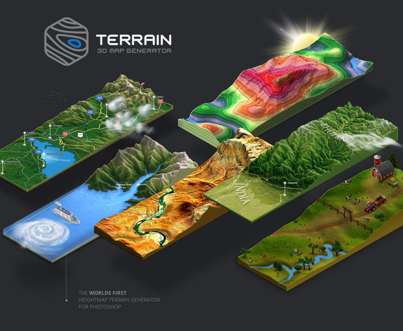 3D Map Generator   Terrain on Behance 3D Map Generator   Terrain