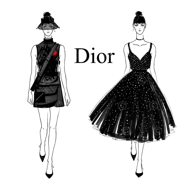 Fashion sketches  Dior SS17 on Behance Thank You