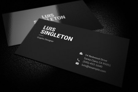 Clean and Minimal Business Card Template on Behance