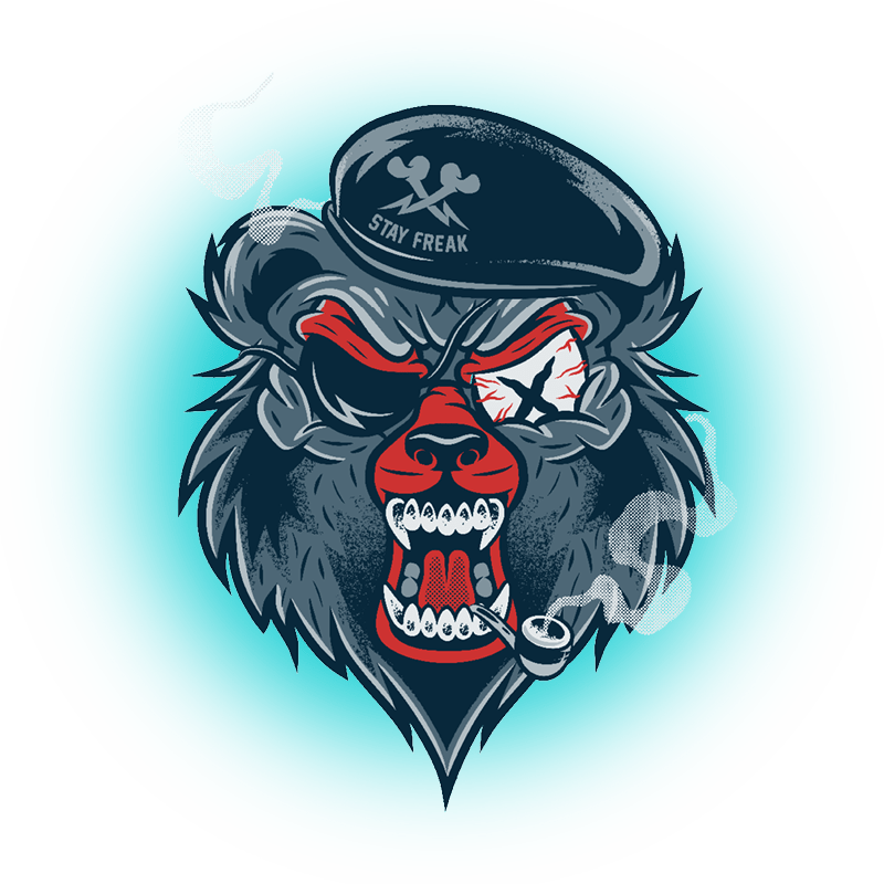 Graffiti Characters Monkey Cartoon Beaver And