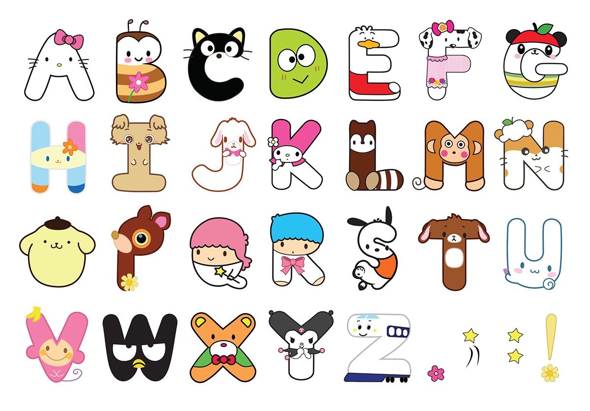 Hello Kitty Alphabet Letters Printables