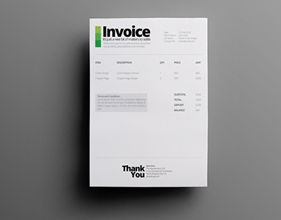 Ultra Minimalist Quotation   Invoice Template on Behance