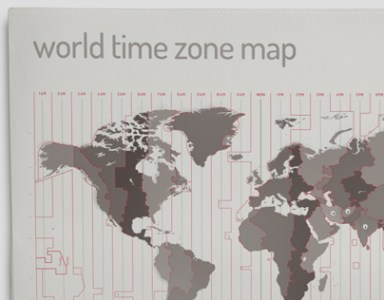 World Time Zone Map on Behance