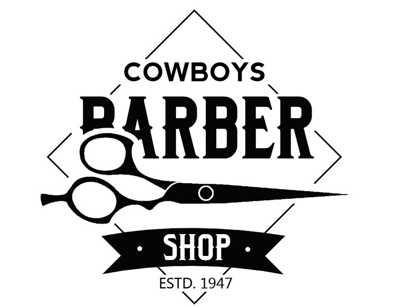 barber logo template - 600×643
