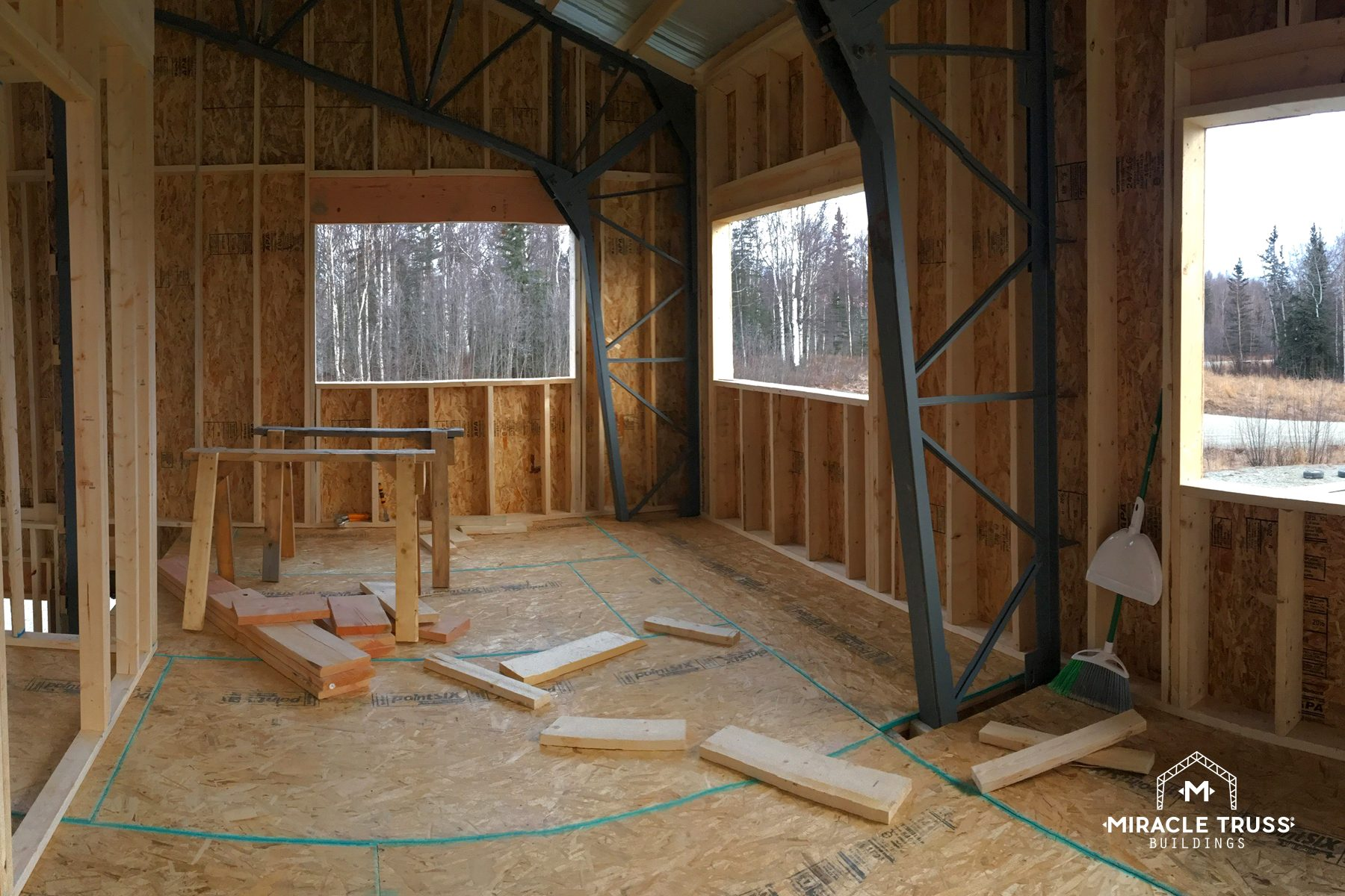 Modern Diy Cabins And Retreats Miracle Truss