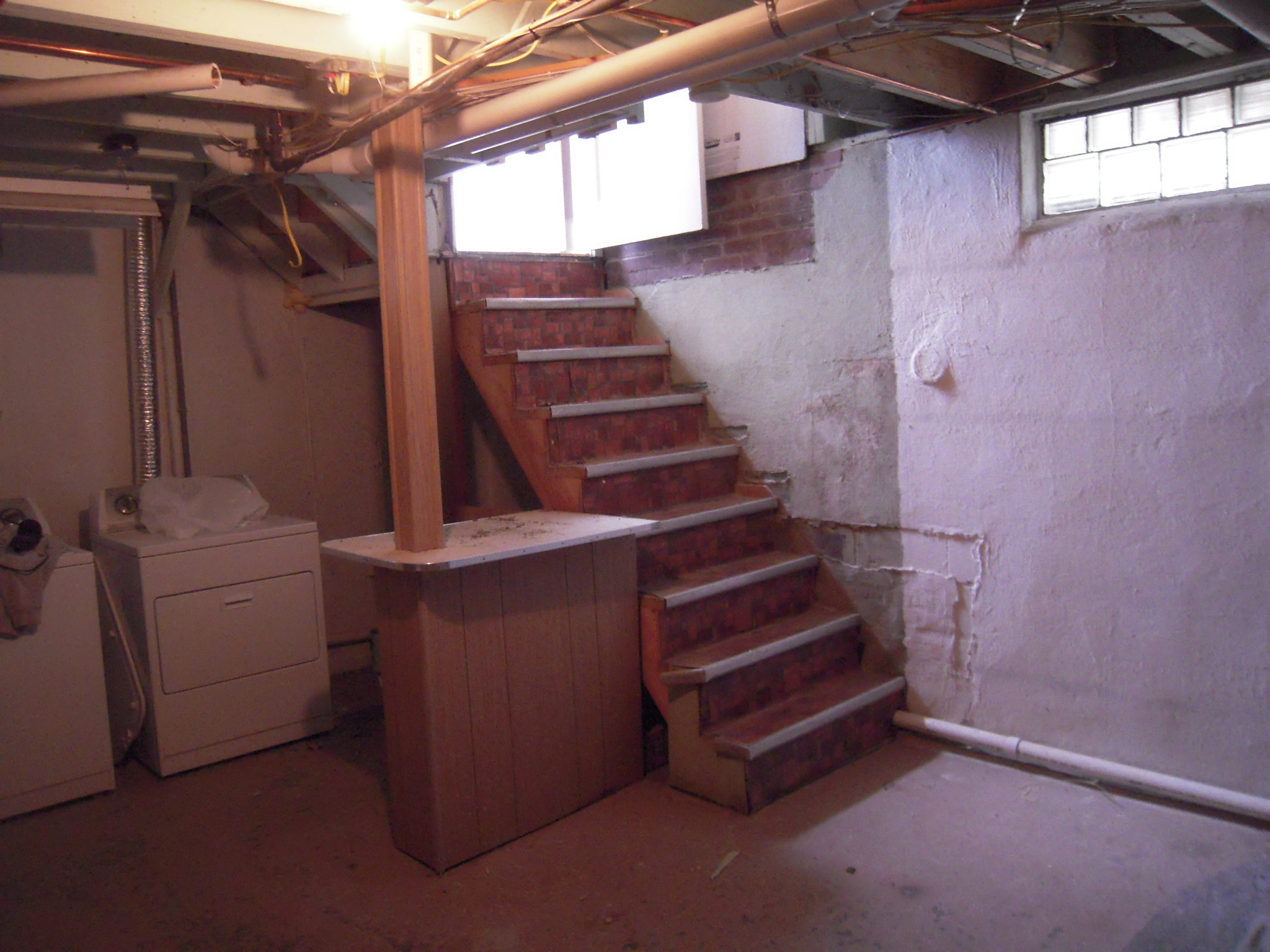 Basement Stairs Adventures In Remodeling   Replacing Old Basement Stairs   Stair Railing   Staircase Remodel   Staircase Railings   Stair Tread   Stair Risers