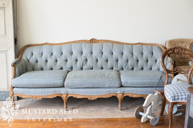 tufted sofa reveal   Miss Mustard Seed mms 7732
