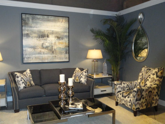 Interior Design Trend Watch  Gray is the New Neutral   MJN and     gray wall color trend