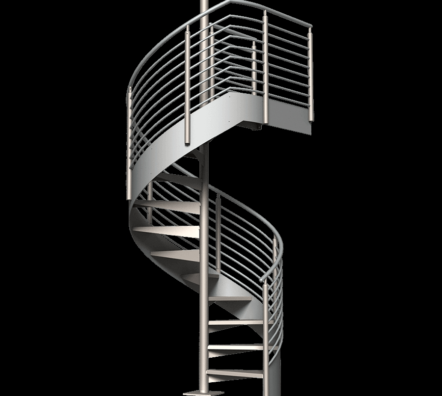 Classic Spiral Stair Kit Erectastep   Metal Spiral Staircase For Sale   Cast Iron   Stair Railing   Staircase Kits   Wrought Iron   Handrail