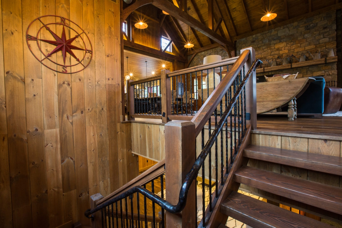 Interior Stair Railing Systems To Suit Any Style Mid Atlantic | Interior Stairs And Railings | Traditional | Living Room | Crystal | Rectangular Tube | Inside