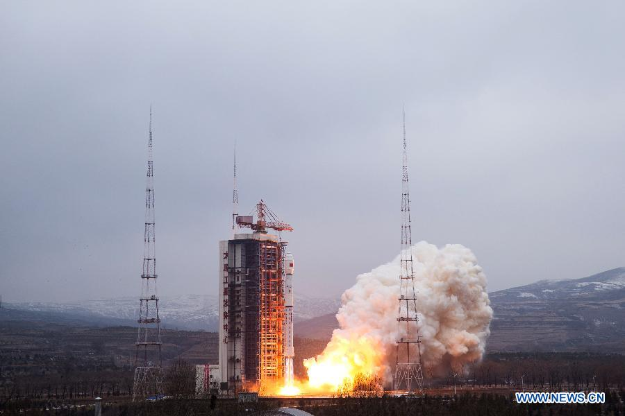 Intelligence gathering satellite launched by China     Spaceflight Now A Chinese Long March 4B rocket launched with the Yaogan 28 satellite at  0706 GMT