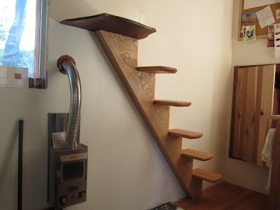 How To Have Stairs Instead Of A Ladder In Your Tiny House | Ladder Design For Small House | Small Cabin | Inexpensive | Elegant | Easy | Retractable