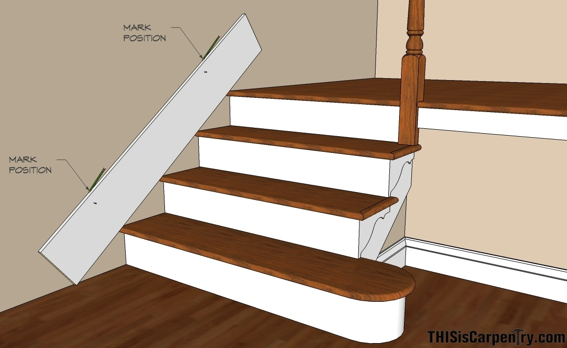 Scribing Skirt Boards Thisiscarpentry | Cost To Build Stairs To Basement | Spiral Staircase | Deck | Risers | Doors | Stair Treads